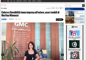 Martina Minnucci en adnkronos